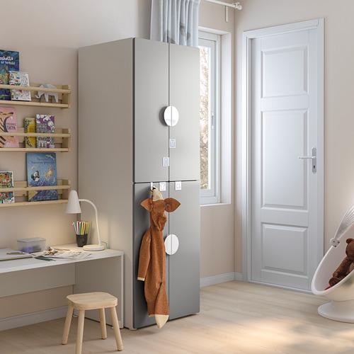 PLATSA/SMÅSTAD - wardrobe, white grey/with 2 clothes rails | IKEA Hong Kong and Macau - PE793274_S4