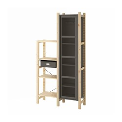 IVAR - 貯物組合, 92x30x179 cm, 松木/灰色 網狀 | IKEA 香港及澳門 - PE793279_S3