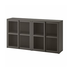IVAR - cabinet with doors, 160x30x83 cm, grey mesh | IKEA Hong Kong and Macau - PE793291_S3