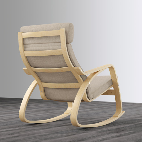 POÄNG - rocking-chair, birch veneer/Hillared beige | IKEA Hong Kong and Macau - PE629320_S4