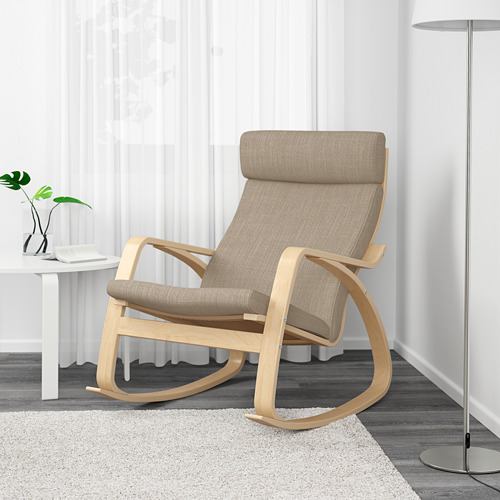 POÄNG - rocking-chair, birch veneer/Hillared beige | IKEA Hong Kong and Macau - PE629321_S4