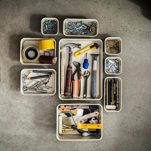 NOJIG - 貯物盒, 25x35x5 cm, 塑膠/米黃色   IKEA 香港及澳門 - PE838465_S4