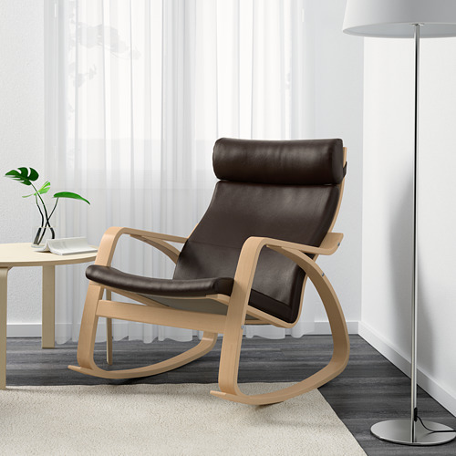 POÄNG - rocking-chair, birch veneer/Glose dark brown | IKEA Hong Kong and Macau - PE600920_S4