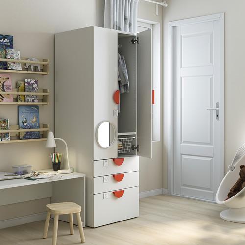 PLATSA/SMÅSTAD - wardrobe, white green/with 3 drawers | IKEA Hong Kong and Macau - PE793377_S4