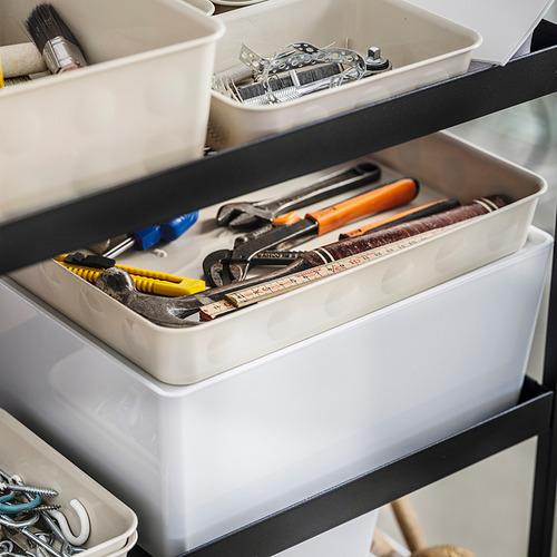 NOJIG - 貯物盒, 25x35x5 cm, 塑膠/米黃色   IKEA 香港及澳門 - PE838509_S4