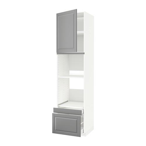 METOD/MAXIMERA - hi cab f ov/combi ov w dr/2 drwrs, white/Bodbyn grey | IKEA Hong Kong and Macau - PE590439_S4