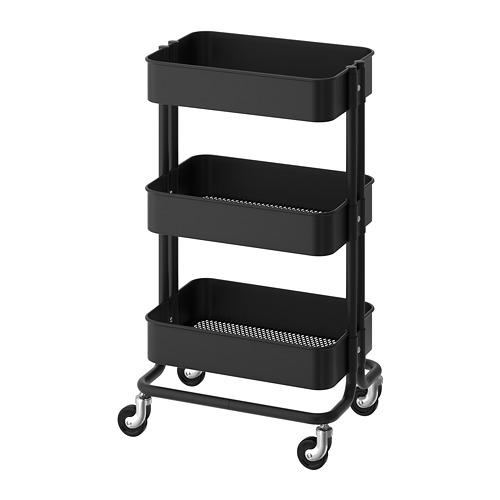 RÅSKOG - 活動几, 黑色 | IKEA 香港及澳門 - PE740783_S4