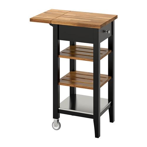 STENSTORP - 廚房活動几, 棕黑色/橡木   IKEA 香港及澳門 - PE740786_S4