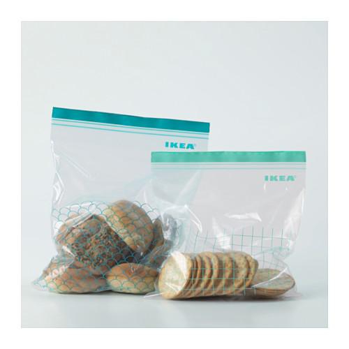 ISTAD - resealable bag, turquoise/light turquoise | IKEA Hong Kong and Macau - PE590492_S4