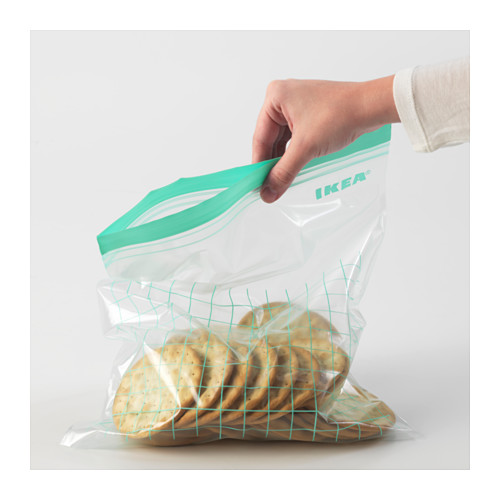 ISTAD - resealable bag, turquoise/light turquoise | IKEA Hong Kong and Macau - PE590493_S4