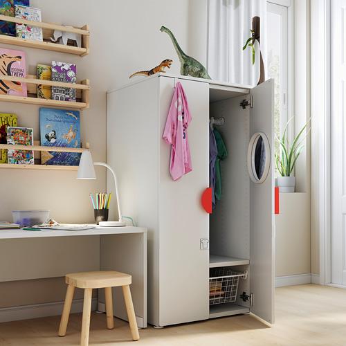PLATSA/SMÅSTAD - 衣櫃, 白色/樺木 | IKEA 香港及澳門 - PE793473_S4