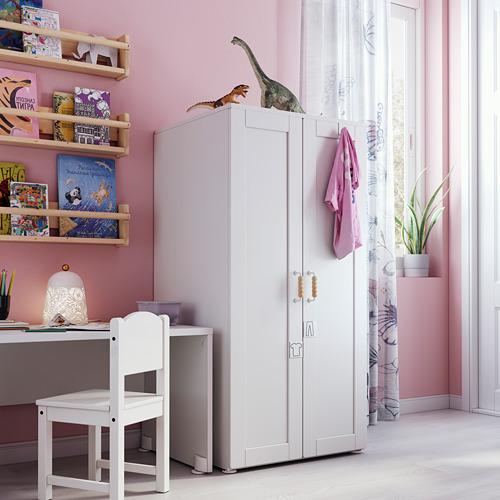 PLATSA/SMÅSTAD - wardrobe, white white/with frame | IKEA Hong Kong and Macau - PE793475_S4