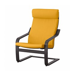 POÄNG - armchair, black-brown/Skiftebo yellow | IKEA Hong Kong and Macau - PE793506_S3