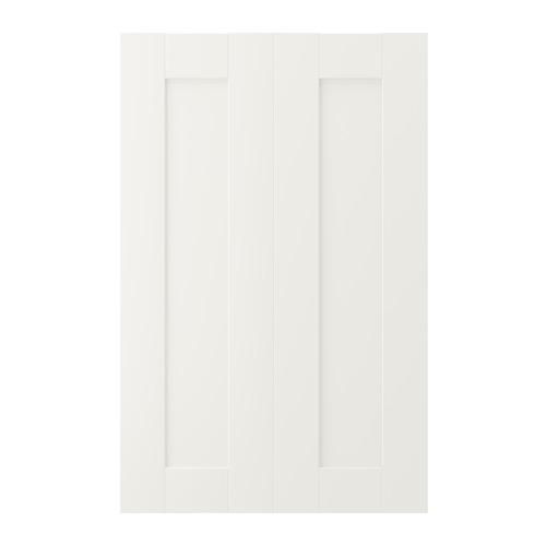 SÄVEDAL - 2-p door f corner base cabinet set, white | IKEA Hong Kong and Macau - PE698140_S4