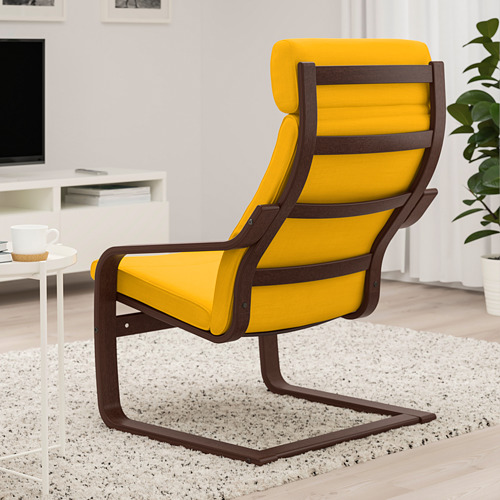 POÄNG - armchair, brown/Skiftebo yellow | IKEA Hong Kong and Macau - PE793512_S4