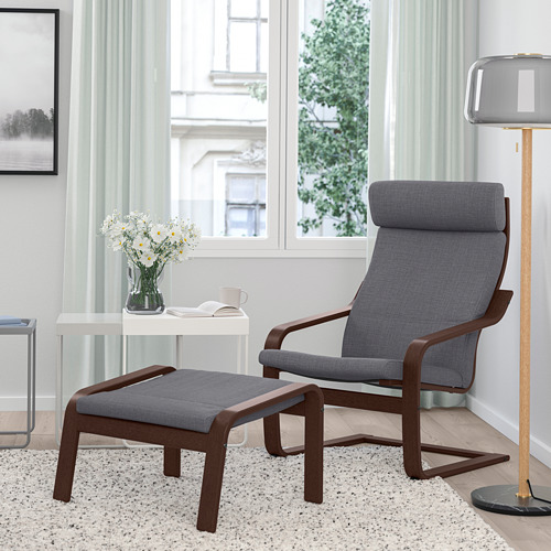 POÄNG - armchair, brown/Skiftebo dark grey | IKEA Hong Kong and Macau - PE793529_S4