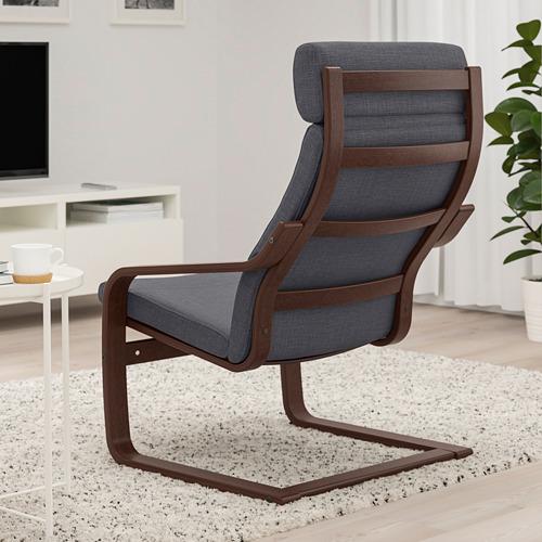 POÄNG - armchair, brown/Skiftebo dark grey | IKEA Hong Kong and Macau - PE793530_S4
