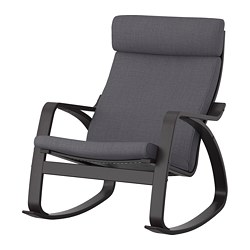 POÄNG - rocking-chair, black-brown/Skiftebo dark grey | IKEA Hong Kong and Macau - PE793563_S3