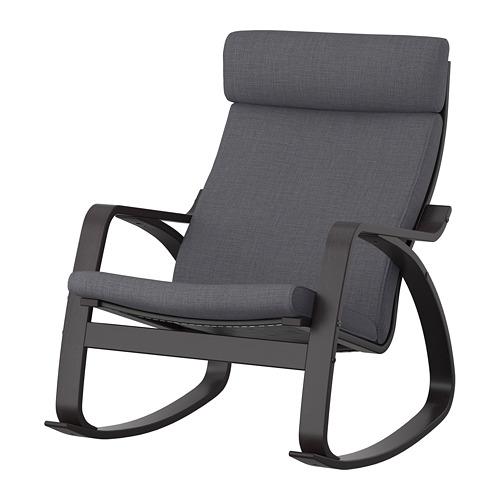 POÄNG - rocking-chair, black-brown/Skiftebo dark grey | IKEA Hong Kong and Macau - PE793563_S4