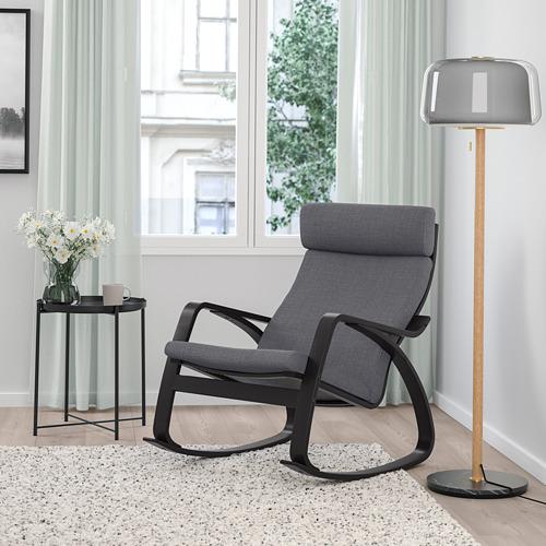 POÄNG - rocking-chair, black-brown/Skiftebo dark grey | IKEA Hong Kong and Macau - PE793564_S4