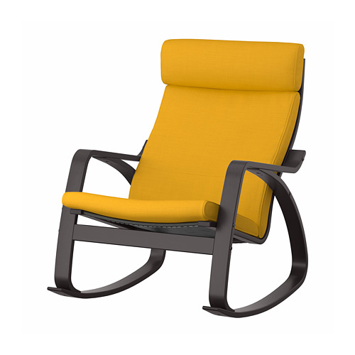 POÄNG - rocking-chair, black-brown/Skiftebo yellow | IKEA Hong Kong and Macau - PE793566_S4
