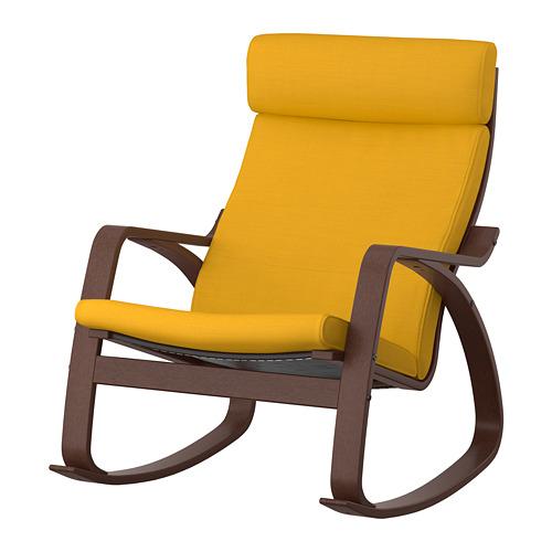 POÄNG - rocking-chair, brown/Skiftebo yellow | IKEA Hong Kong and Macau - PE793571_S4