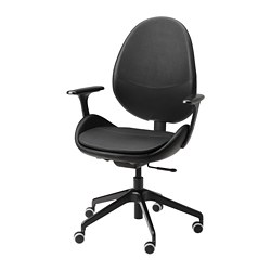 HATTEFJÄLL - office chair with armrests, Smidig black/black | IKEA Hong Kong and Macau - PE740891_S3