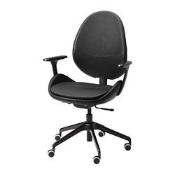HATTEFJÄLL - 辦公椅連扶手, Smidig 黑色/黑色 | IKEA 香港及澳門 - PE740891_S3