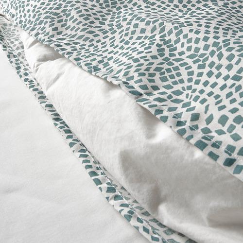 TRÄDKRASSULA - 被套連2個枕袋, 白色/藍色, 200x200/50x80 cm  | IKEA 香港及澳門 - PE741006_S4