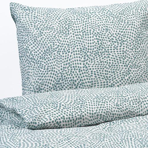TRÄDKRASSULA - 被套連2個枕袋, 白色/藍色, 200x200/50x80 cm  | IKEA 香港及澳門 - PE740972_S4