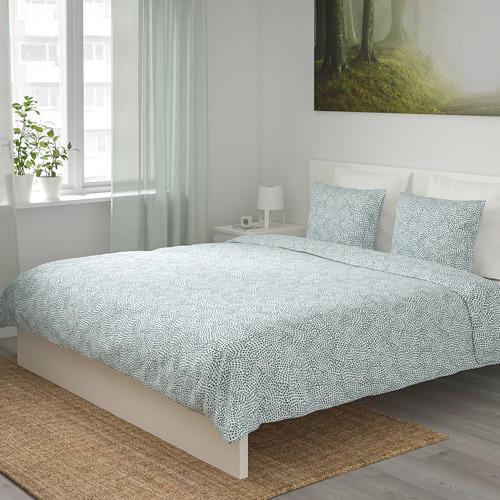TRÄDKRASSULA - 被套連2個枕袋, 白色/藍色, 200x200/50x80 cm  | IKEA 香港及澳門 - PE740998_S4