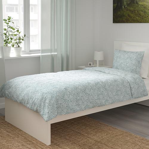 TRÄDKRASSULA - quilt cover and pillowcase, white/blue, 150x200/50x80 cm    IKEA Hong Kong and Macau - PE741002_S4
