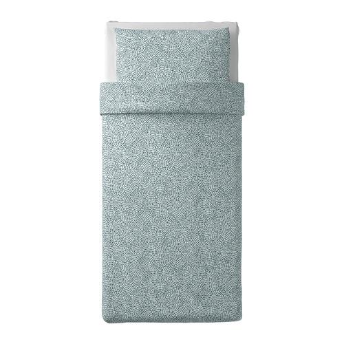 TRÄDKRASSULA - quilt cover and pillowcase, white/blue, 150x200/50x80 cm    IKEA Hong Kong and Macau - PE740973_S4