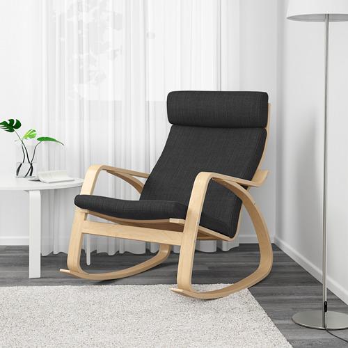 POÄNG - 搖椅, 樺木飾面/Hillared 炭黑色   IKEA 香港及澳門 - PE629318_S4