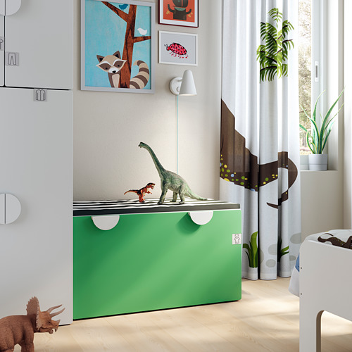 SMÅSTAD - 貯物式長几, 白色/綠色 | IKEA 香港及澳門 - PE793626_S4