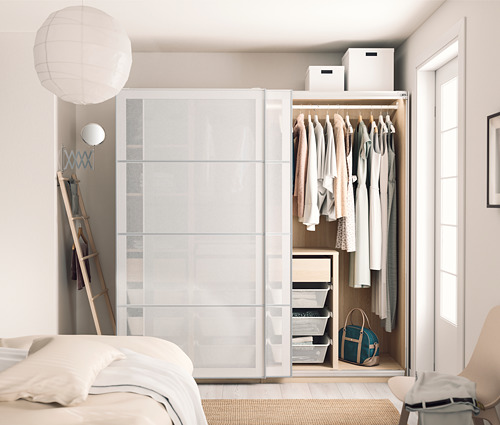 PAX/SVARTISDAL - wardrobe combination, white stained oak effect/white paper effect | IKEA Hong Kong and Macau - PH170935_S4