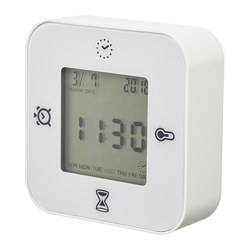 KLOCKIS - clock/thermometer/alarm/timer, white | IKEA Hong Kong and Macau - PE698266_S3