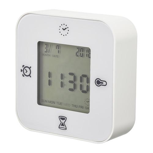 KLOCKIS - clock/thermometer/alarm/timer, white | IKEA Hong Kong and Macau - PE698266_S4