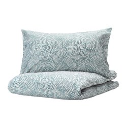 TRÄDKRASSULA - quilt cover and pillowcase, white/blue, 150x200/50x80 cm  | IKEA Hong Kong and Macau - PE740992_S3