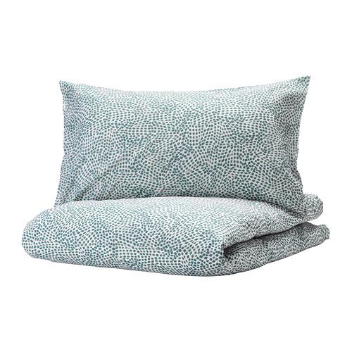 TRÄDKRASSULA - 被套連2個枕袋, 白色/藍色, 200x200/50x80 cm  | IKEA 香港及澳門 - PE740992_S4
