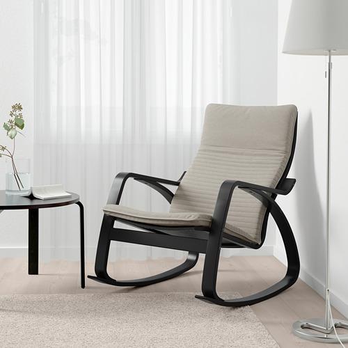 POÄNG - 搖椅, 棕黑色/Knisa 淺米黃色 | IKEA 香港及澳門 - PE667309_S4