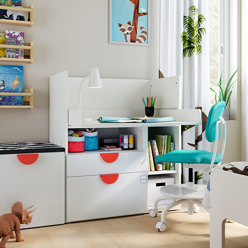 SMÅSTAD - 書檯, 白色 白色/附2個抽屜   IKEA 香港及澳門 - PE793630_S4