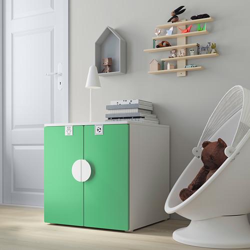 PLATSA/SMÅSTAD - cabinet, white green/with 1 shelf | IKEA Hong Kong and Macau - PE793673_S4