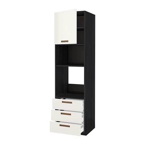 METOD - 微波爐/焗爐用高櫃連抽屜櫃門組合, 黑色 Maximera/Märsta 白色 | IKEA 香港及澳門 - PE525149_S4