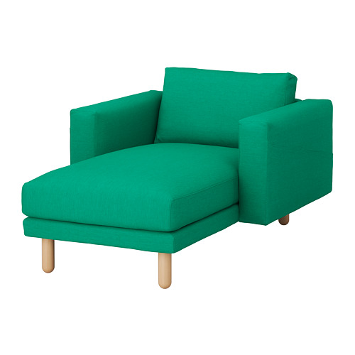 NORSBORG - chaise longue, Edum bright green/birch | IKEA Hong Kong and Macau - PE651055_S4