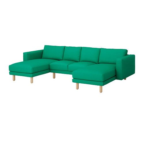 NORSBORG - 四座位梳化, 連躺椅/Edum 鮮綠色/樺木   IKEA 香港及澳門 - PE651025_S4