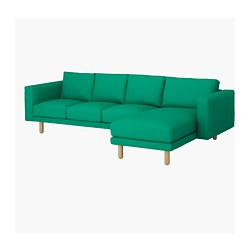 NORSBORG - 4-seat sofa, with chaise longue/Edum bright green/birch             | IKEA Hong Kong and Macau - PE651038_S3