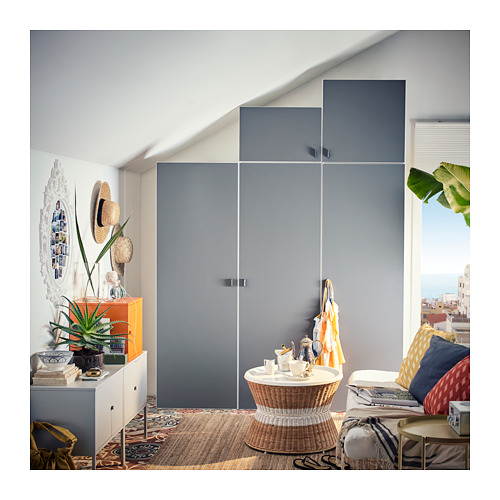 PLATSA - wardrobe, white/Skatval dark grey | IKEA Hong Kong and Macau - PH145396_S4