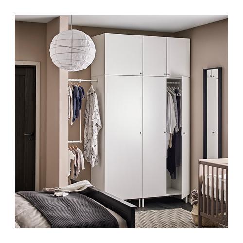 PLATSA - wardrobe, white/Fonnes white | IKEA Hong Kong and Macau - PH145398_S4