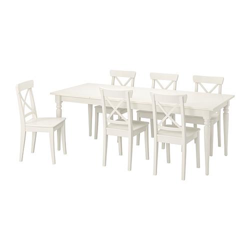 INGATORP/INGOLF - table and 6 chairs, white/white | IKEA Hong Kong and Macau - PE741101_S4